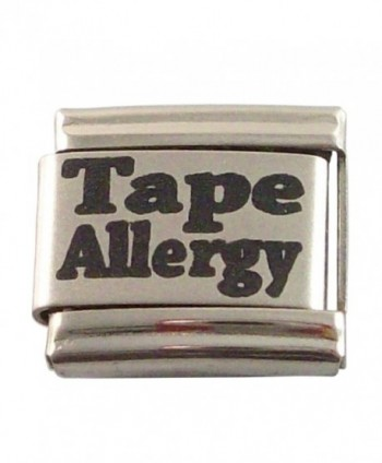2 Allergic to Tape Medical ID Alert Italian Charms for Bracelet Allergy - CC11054XXTN