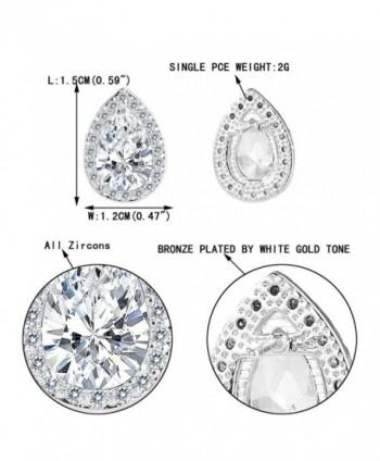EVER FAITH Zirconia Teardrop Silver Tone in Women's Stud Earrings