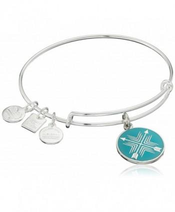 Alex and Ani Charity By Design Arrows of Friendship Expandable Bangle Bracelet - Rafaelian Shiny Silver - C611XEXFMG9