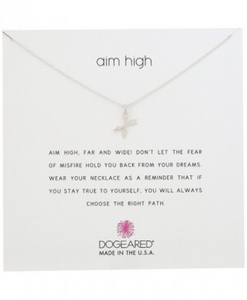 "Dogeared Aim High Pendant Necklace- 18"" - Silver - CB115WX3ILF"
