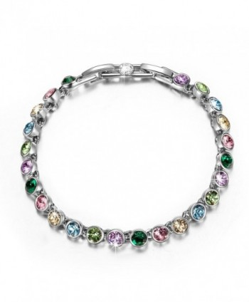 "QIANSE ""Fairy Lights"" Tennis Bracelet Made With Swarovski Crystals Come With Extender - CI18030EZ2A"