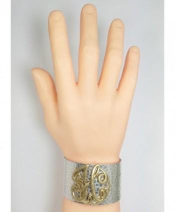 Hammered Boutique Monogram Initial Bracelet