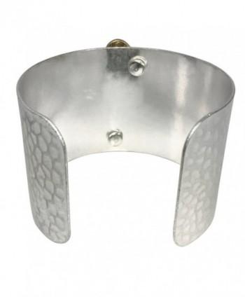 Hammered Boutique Monogram Initial Bracelet in Women's Cuff Bracelets