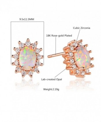 GEMSME Plated Created Zirconia Earrings