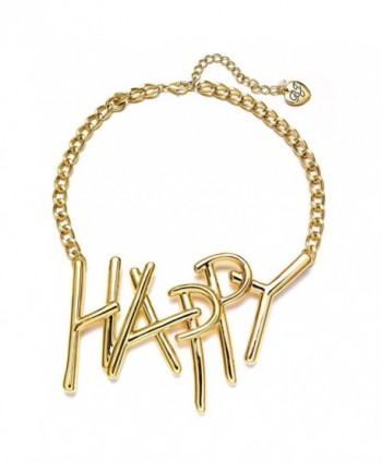 Betsey Johnson xox Trolls Women's 'Happy' 18-in Gold-Tone Necklace - C817YEUEN2K