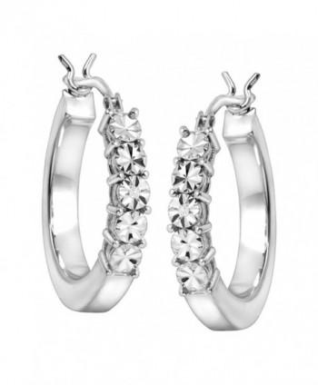 Square Earrings Diamonds Sterling Silver