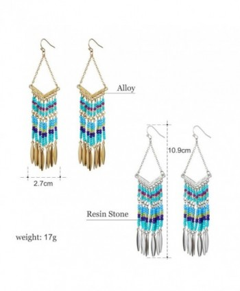 Bohemian V shaped Colorful Tassel Earrings