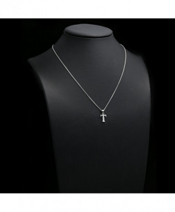 Sterling Zirconia Initial Pendant Necklace
