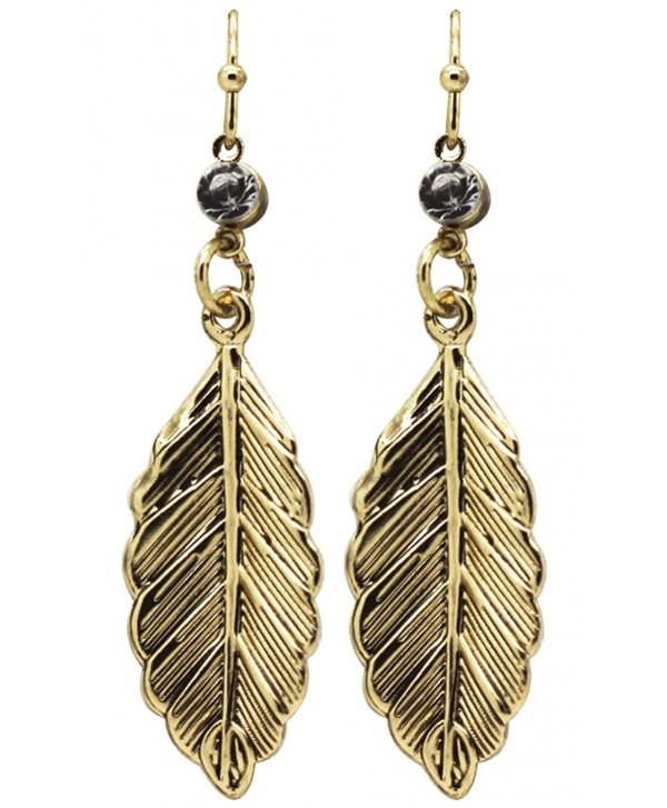 Clio Couture Antique Gold Leaf Earrings - CA11UMLKSF1