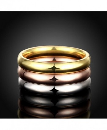 JAJAFOOK Womens Stackable Tri Colors Stainless in Women's Stacking Rings