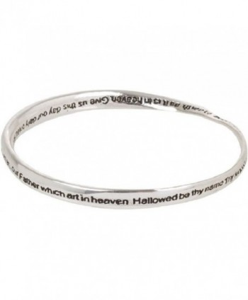 Heirloom Finds Lord's Prayer Silver Tone Twist Bangle Bracelet - CJ1194X5XKX