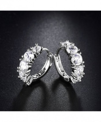 MASOP Zirconia Earrings Wedding Jewelry in Women's Hoop Earrings
