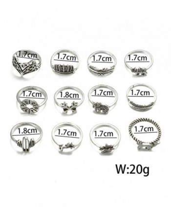 Knuckle Fashion Rhinestone Elephant Stacking in Women's Statement Rings