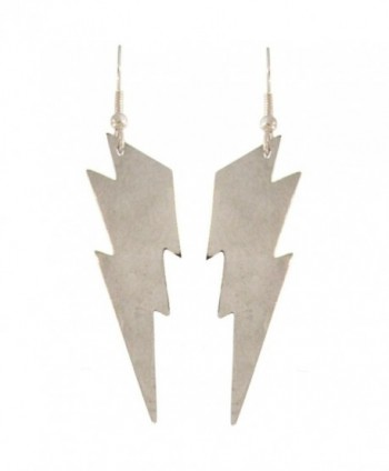 "Nickel Free 2"" Lightning Bolt Earrings - CA114XOKGEB"