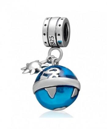 Choruslove Travel Around the World Ocean Blue Earth Charm Pendant Bead for Bracelet or Necklace - CR12JW9ZR2R
