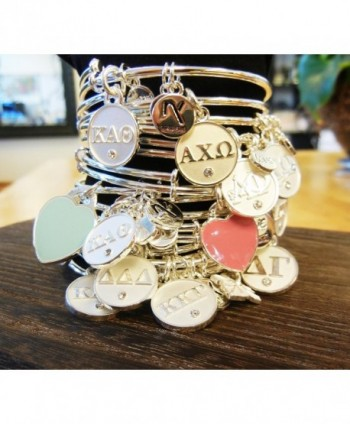 Sorority Inspired Adjustable Bangle Bracelets in Women's Bangle Bracelets