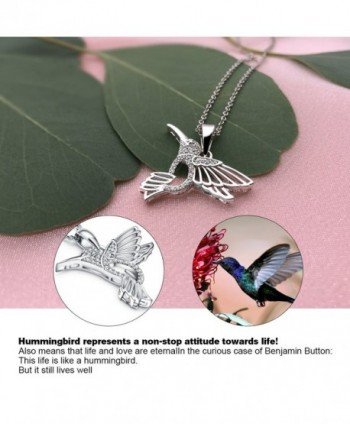 Zirconia Sterling Hummingbird Necklace Girlfriend