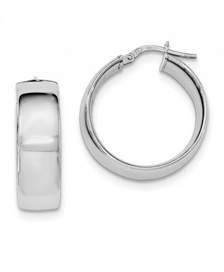 Sterling Silver Hoop Earrings (1IN Diameter) - C012LHU66ID