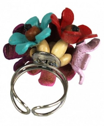 Couture Jewelry Leather Coconut Flower
