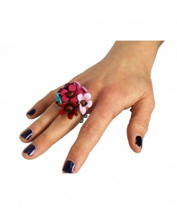 Couture Jewelry Leather Coconut Flower in Women's Statement Rings