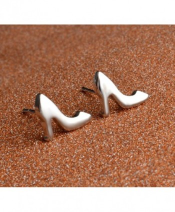 SUNGULF Silver Plated Heels Earrings