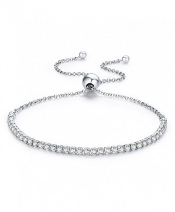 Womens Tennis Bracelets 925 Sterling Silver Cubic Zirconia Bracelets Mother's Day Gifts Wedding Bracelets - CH183YGW7UZ