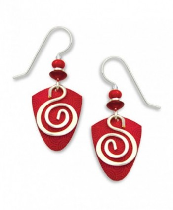 Adajio By Sienna Sky Red Silver-tone Spiral Overlay Earrings 7227 - CC11BM78GN5