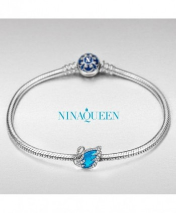 NinaQueen Princess Sterling Silver Hand made in Women's Charms & Charm Bracelets