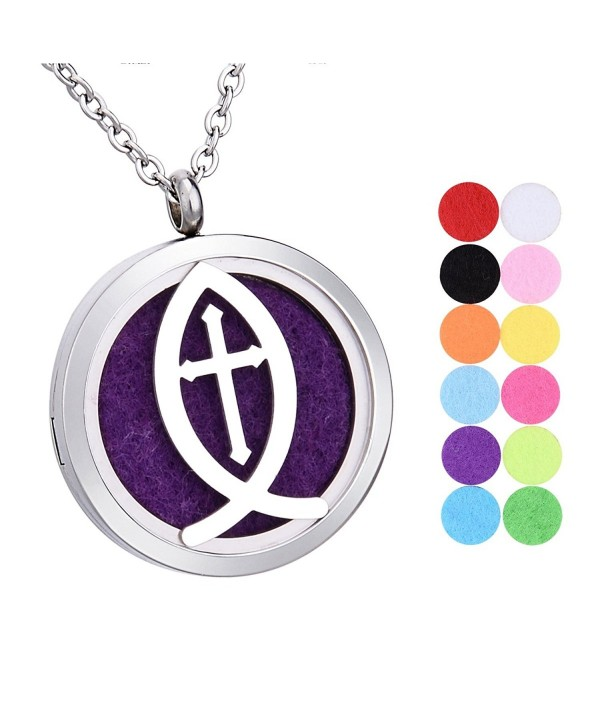 Aromatherapy Essential Diffuser Necklace Stainless - Type 2 - C1182Z4L8N2