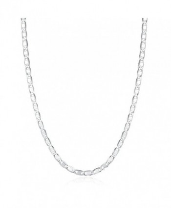 "Choker Necklace 925 Sterling Silver Mariner Chain 13""-15"" - CL18808SNA6"