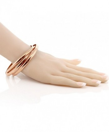 Triple Stainless Steel Bangle Bracelets