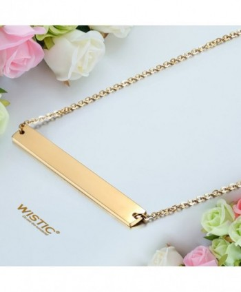 Necklace Stainless Adjustable Engravable Pendant in Women's Pendants