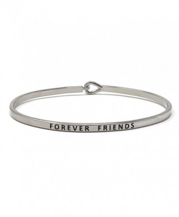 Forever Friends Inspirational Hook Bangle Bracelet - Rhodium - CU187UMTQCD