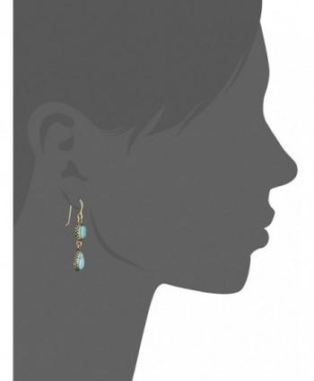 Barse Bronze Turquoise Multi Shape Earrings