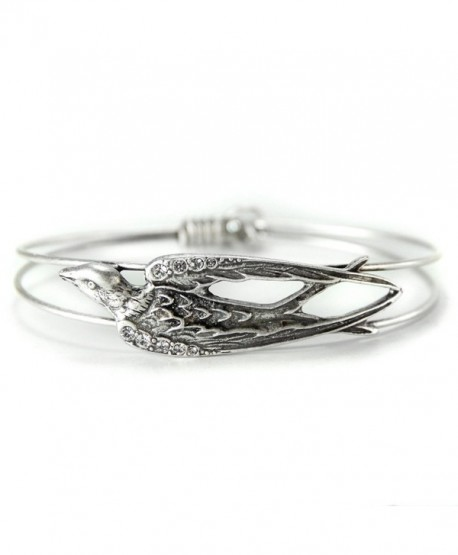 Bracelet Silver Bangle Swallow Jewelry - CV123CJ3C6B