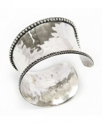 Rustic Style Cuff Bracelet Silver Tone - C5119NP9461