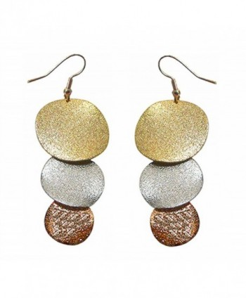 Dangle Earrings for Pierced Ears in Gold- Bronze- and Silver Tone AC89700-2 - CN11FG2QEI1