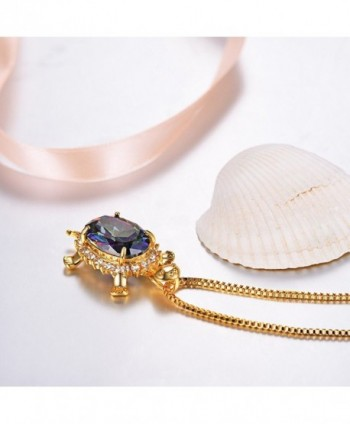 Turtle Pendant Necklace Zirconia Jewelry in Women's Pendants