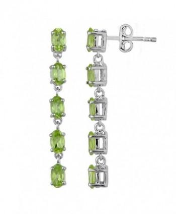 Fine Peridot Earrings in Sterling Silver - CB12FLEYNIL