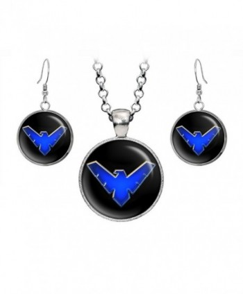 Nightwing Necklace Pendant Earrings Presents - CS12OCJ4NMG