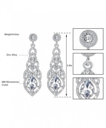 mecresh Crystal Teardrop Earrings Bridemaid