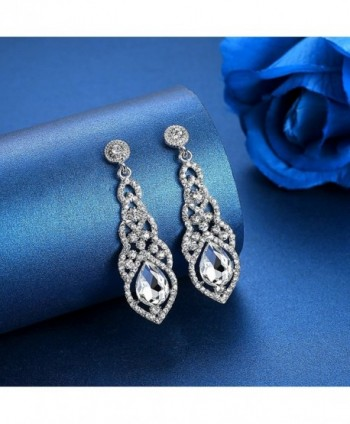 mecresh Crystal Teardrop Earrings Bridemaid in Women's Drop & Dangle Earrings