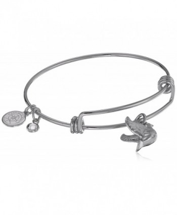 "Halos & Glories- ""Dove"" Charm Bangle Bracelet - Shiny Silver - CV185O5NTQS"