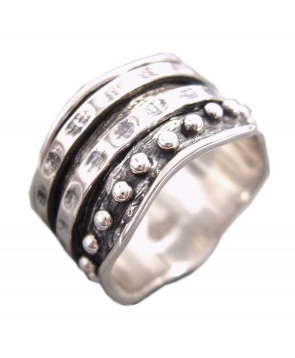 """Energy Stone """"HER RING"""" - Bold Look from the Couple Collection Meditation Spinning Ring (Style US34) - CZ12O0UZ1Q8"""