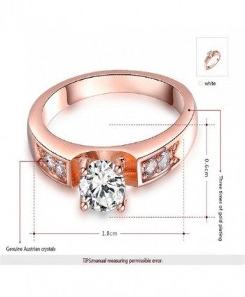 Angelady Crystal Round Fashion Ring