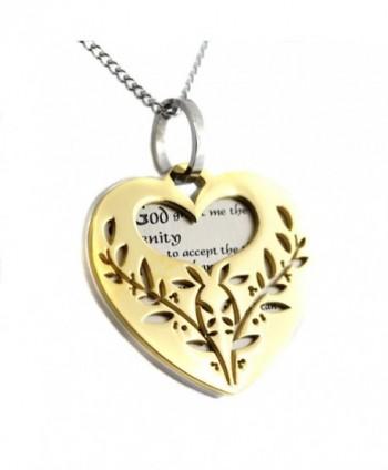 Filigree Serenity Prayer Pendant Necklace in Women's Pendants