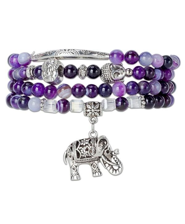 Silver Elephant Bracelet SPUNKYsoul Collection - C012GXREMXL