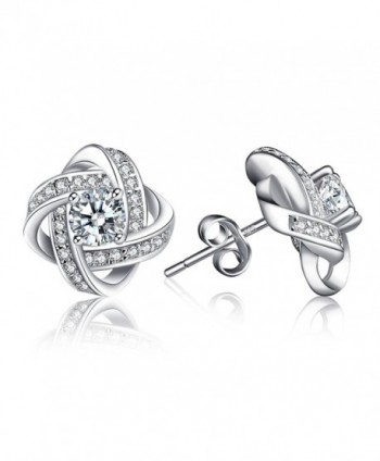 Earrings LuckySuen Sterling Zirconia Girlfriend in Women's Stud Earrings