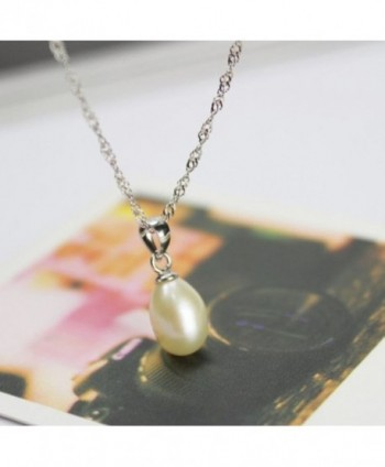 Merdia Sterling Necklace Diameter Cultured in Women's Pendants