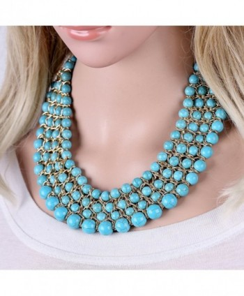 Weaving Turquoise Statement Necklaces Jewelry